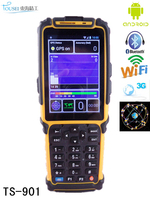 Android barcode scanner pda with Wifi,3G,rfid reader (IP64,3400mAh battery)