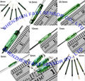 MKA14103 2.2X14mm Meganetic contact Reed Switch Sensor Normally Open N/O SPST 2reeds Green glass tube