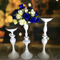 hot wholesale elegant new design white color metal flower vase for wedding table decoration