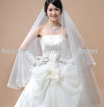 whoesale best seller middle length wedding veil VG007