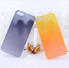 Ultra thin pc hard gradient-changed rubberized case for iphone5/5s 2013 new product for iphone accessories