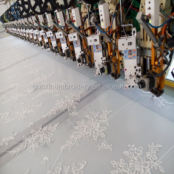 2016 wholesale 3D flower lace bridal embroidery fabric/Elegant lace tulle 3D lace fabric for wedding dress