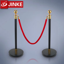 Bank Queue Line Rope Stanchions Black Powder Coat Finished Barriers