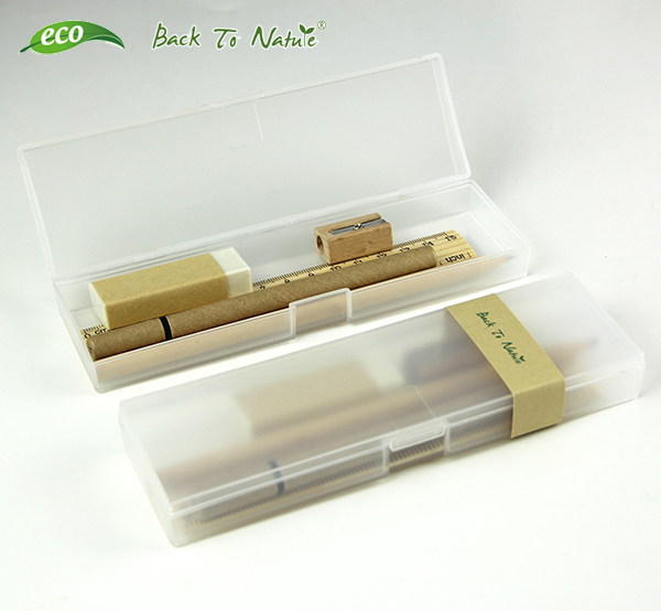 Transparent cool hard Plastic Stationery box pencil case