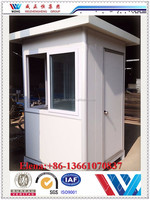 2015 china simple low cost customized prefabricated design Portable mobile sentry box/security booth/guard house