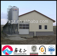steel structure egg/ broiler Chicken Feed House Farm