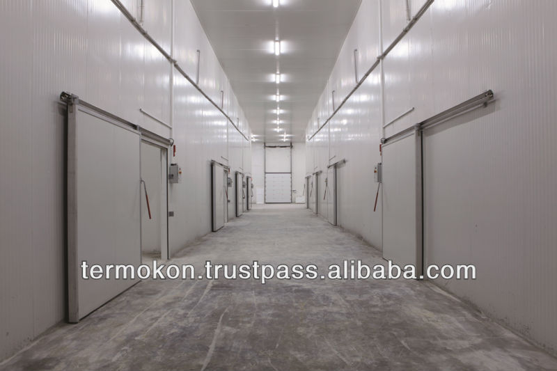 60-200mm COLD ROOM PU&STEEL SURFACE SANDWICH PANEL