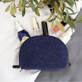 High Quality Custom Design Felt Makeup Bag With Zipper