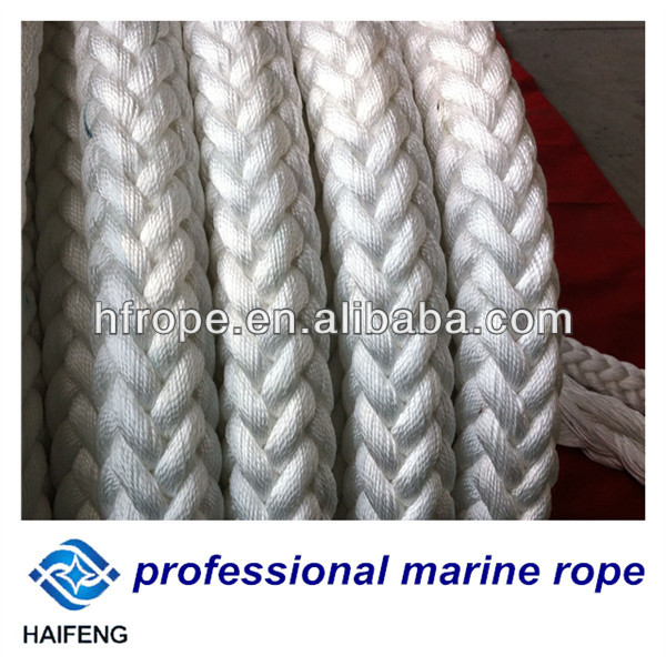 32mm 12 strand twist braided marine rope with CCS,ABS,BV,LR,GL,NK,KR certified