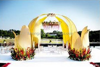 wedding stage flower mandap pillar decoration