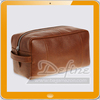 Men's Travel Grooming Leather Washbag Shaving Dopp Case
