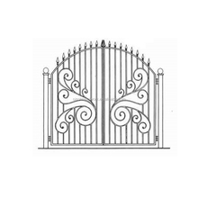 2016 new design italian style wrought iron double gate metal entrance gate morden steel gate