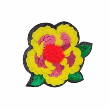 large iron on patches flower appliqued embroidery patches BK-MTF2408