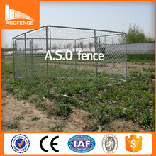 chain link style 60*60mm opening galvanized wire mesh fencing dog kennel