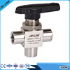 3 way SS female NPT thread end ball valve