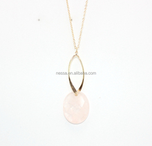 Fashion Powder crystal <strong>necklace</strong> Wholesale BJNK-0164