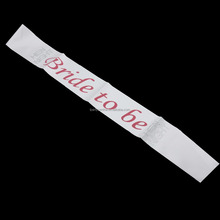 new style bride to be sash with rhinestone for wedding hen party accessories LP