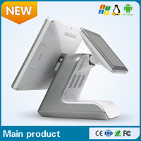 """Restaurant Equipment 15"""" double touch screen POS system/android pos terminal"""