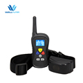 Dogs obedience blue LED backlight electric shock vibrate pet dog training collar