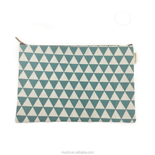 Fashion Checked Pattern Fabric A4 Size Document File Case