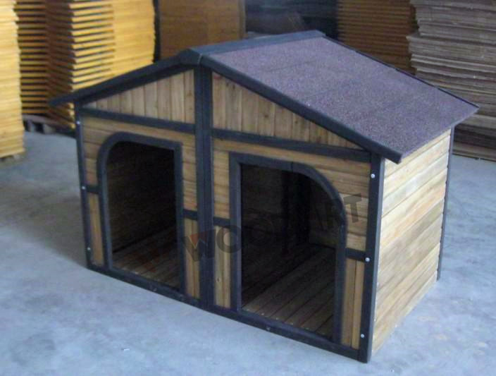 Good design double large wooden dog house