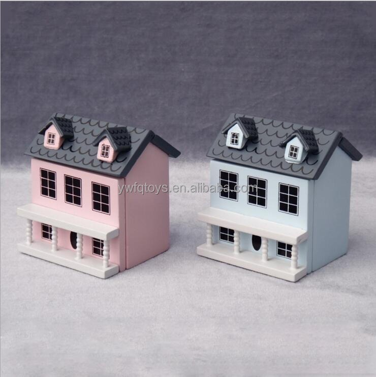 FQ brnad Scale 3D Mini Fancy Wooden Toy Villa Stylish Doll House For Kids