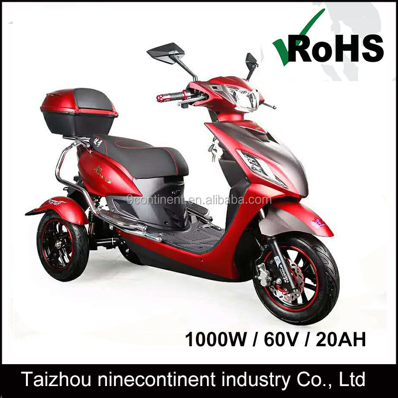 Three wheels electric trike scooter/motorcycle scooter 800W 60V