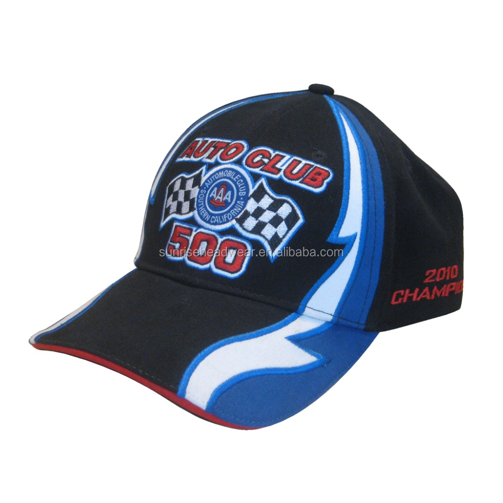 racing caps and hats embroidered