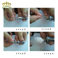 2013 Newest atomizer e cigarettes stainless steel chrome cobra atomizer with best price.