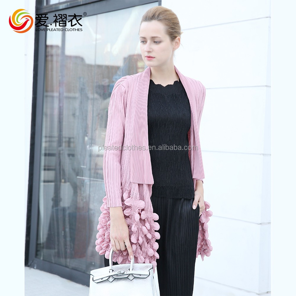 New pant coat design early autumn wear overcoat ladies mature coat