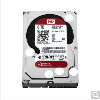 Western Digital (WD) Red Disk 6TB SATA6Gb / s 64M Network Storage (NAS) Hard Drive (WD60EFRX)