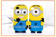 For Apple iphone5 5s Despicable Me Minions 3D Silicone Soft Case
