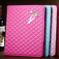 high quality kid-lambskin flip stand remax leather case for ipad