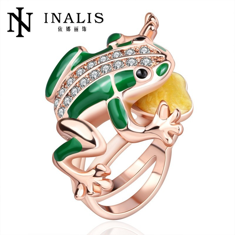 2014 wholesale green frog men's ring jewelry <strong>R015</strong>