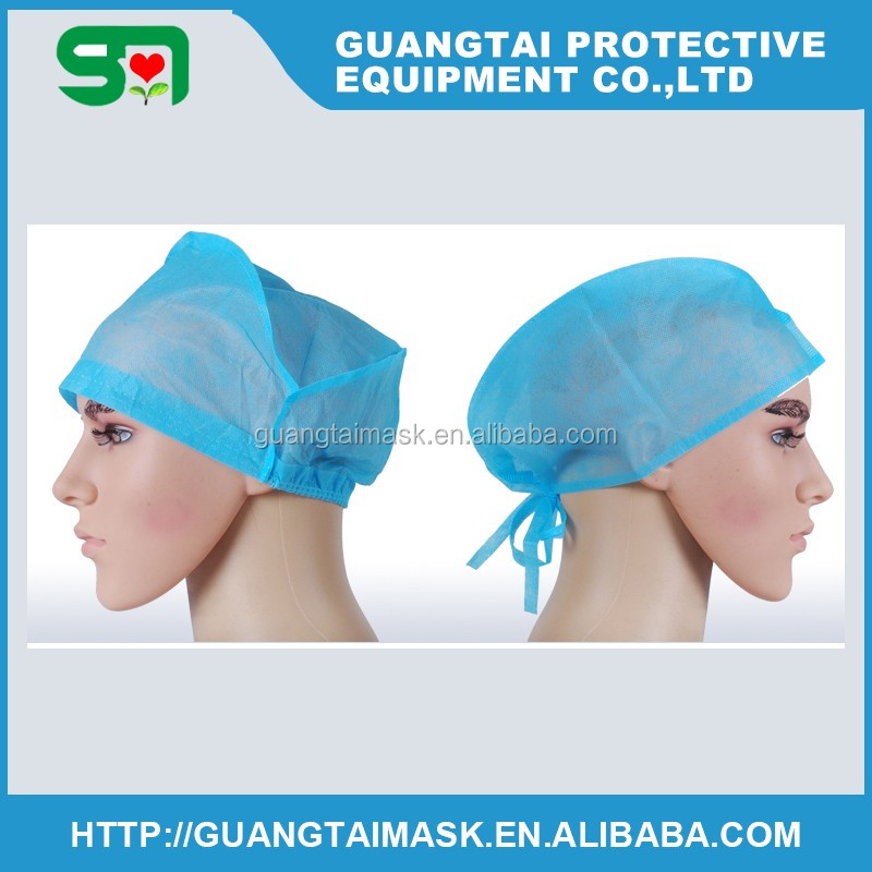 Cheapest Disposable Fabric Cap with tie for Doctor