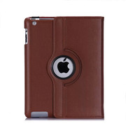 For ipad 2 Case 360 degree rotating leather flip smart cover case for ipad 2 3 4