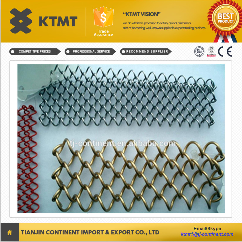 aluminum decorative Wire Mesh/ Metal Coil Drapery/Metal Curtain