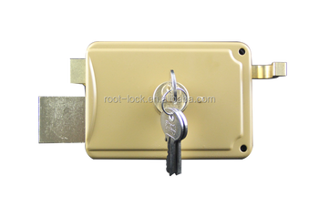 Safe and reliable brass rim door lock