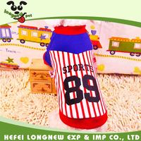 Stripe Pattern Dog 89 Sports Shirts Outfit Small Puppy Sweatshirts Pet Apparel