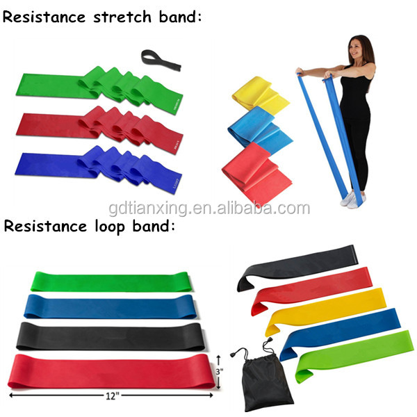 Portable Yoga Fitness Workout Pilates flexible Resistance loop bands