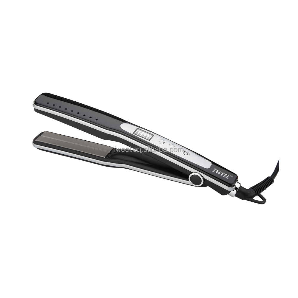 Pro Customized LCD professional flat iron wet and dry hair straightener