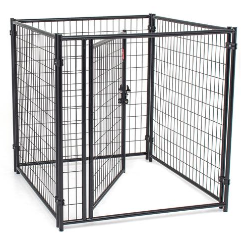 LUCKY DOG BLACK MODULAR WELDED WIRE KENNEL