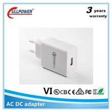 universal travel adapter with usb charger QC2.0 QC3.0 12v 150ma phone adapter
