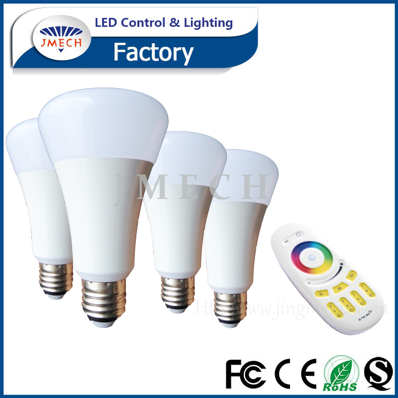 9W par30 RGBW wireless remote controller light bulb e27 led bulb with 2.4G RF 4 zone remote control