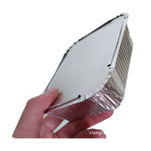 factory price food use aluminum foil material Custom Disposable Rectangular Aluminum Foil Food Takeaway Container with <strong>paper</strong> lid