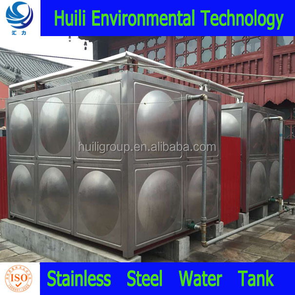 hot sale square modular 5000 liter drinking water storage stainless steel water tank