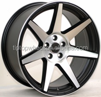 17 inch wheel 4x114.3 alloy rim china product high quality matte black