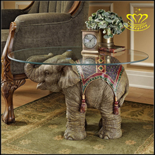 personalized fiberglass resin animal elephant statue table For Sale