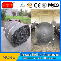 Culvert Concrete Making Inflated Rubber Balloon