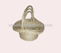 White Wedding Baskets